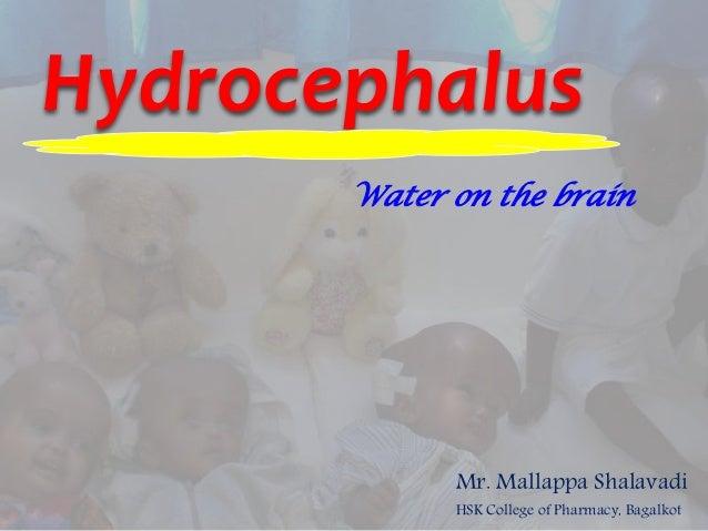 Hydrocephalus Mr. Mallappa Shalavadi HSK College of Pharmacy, Bagalkot Water on the brain