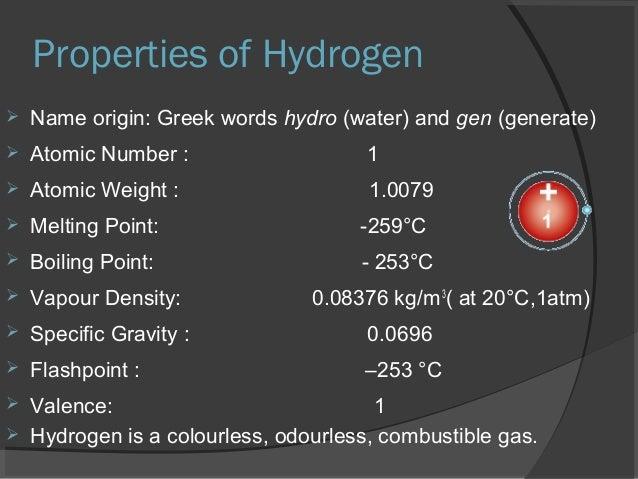 presentation  hydrogen