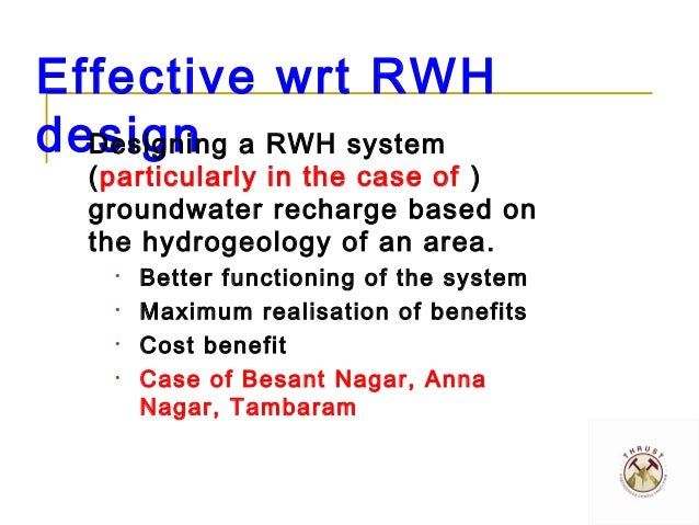 Designing effective Rainwater Harvesting systems_Saravanan_2013