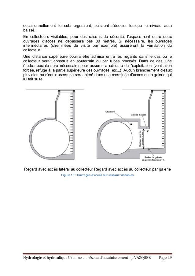 HydrologieethydrauliqueUrbaineenréseaud'assainissement‐J.VAZQUEZ Page29 occasionnellement le submergeraient, ...