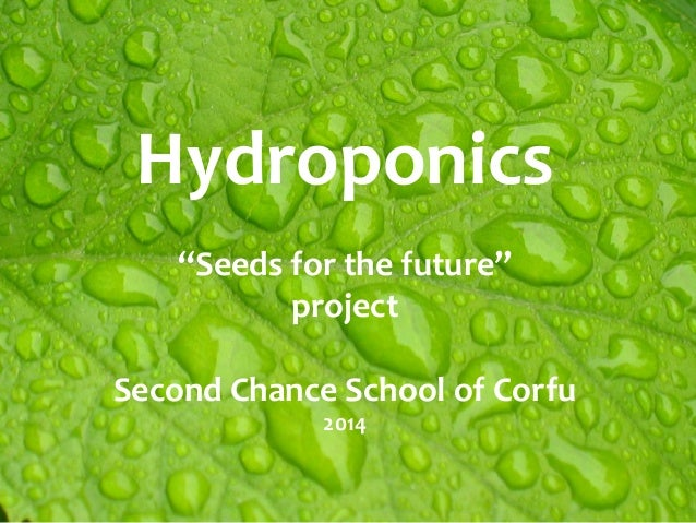 """Hydroponics """"Seeds for the future"""" project Second Chance School of Corfu 2014"""