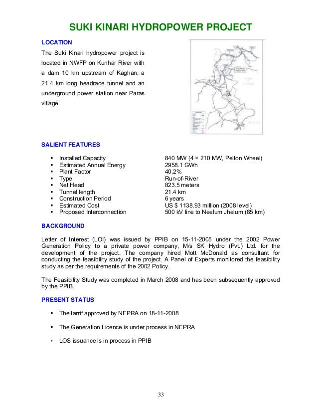 Hydro potential in pakistan wapda 2008