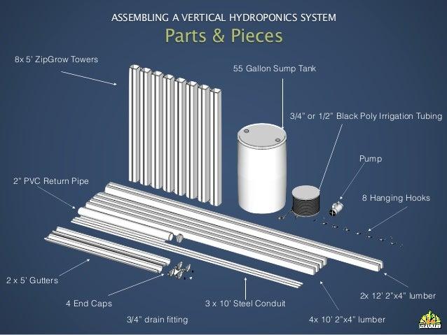 Assembling a Vertical Hydroponics System