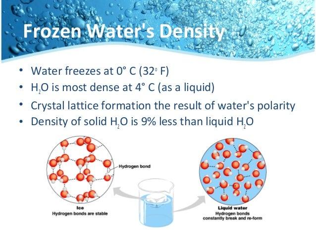 Water Molecules O Weak Bonds Continually Break Reform 5