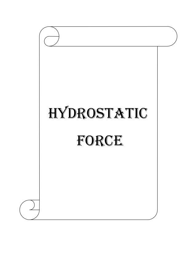 hydrostatic force