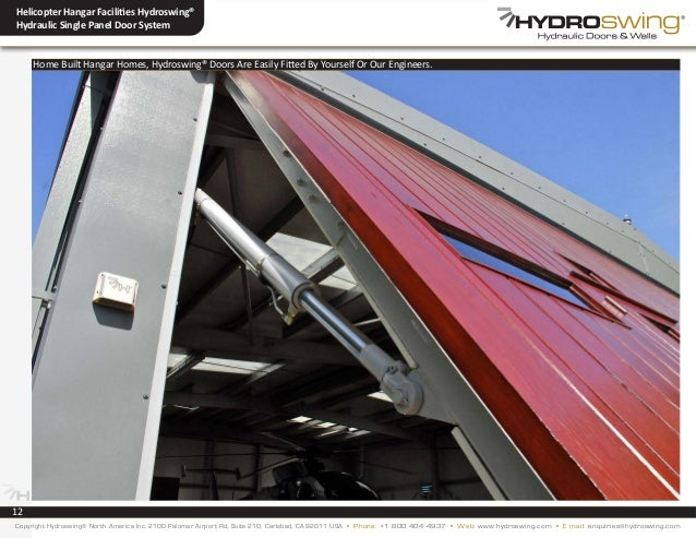 & Hydroswing® Helicopter Hangar Facility Door Systems/Hydraulic Doors
