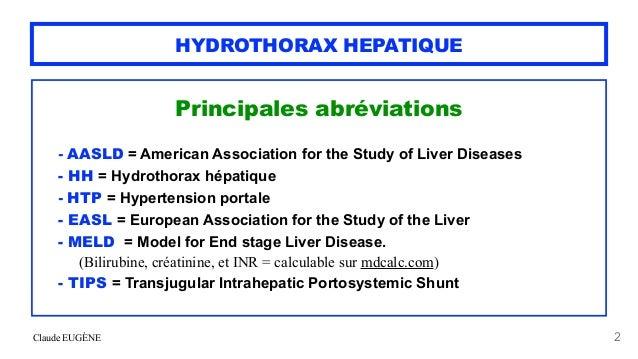 HYDROTHORAX HEPATIQUE (pleurésie au cours d'une cirrhose) Slide 2