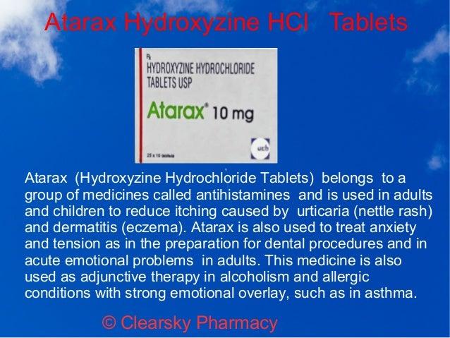 Atarax (Hydroxyzine Hydrochloride Tablets)