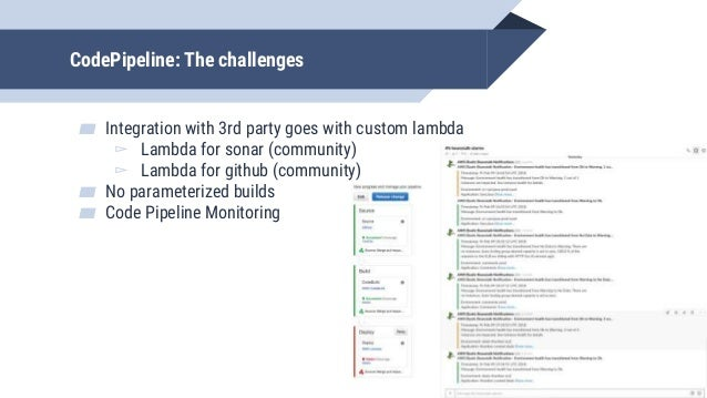 The custom lambda problem ▰ If you need to tune the system to the way you want to work in AWS system easiest way is with C...