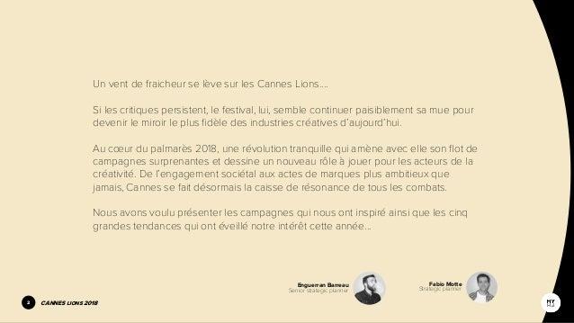 Brainsnacks #10 Strategic issue : Cannes Lions 2018  Slide 2