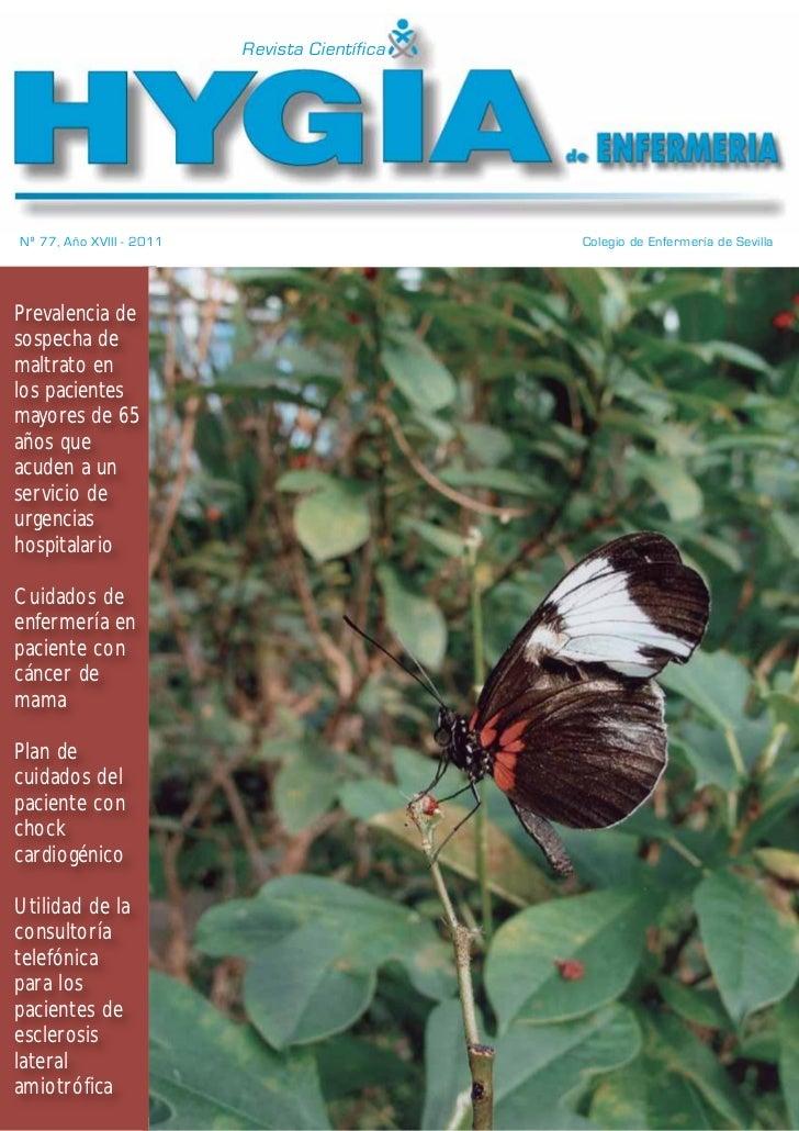Revista CientíficaNº 77, Año XVIII - 2011                        Colegio de Enfermería de SevillaPrevalencia desospecha de...