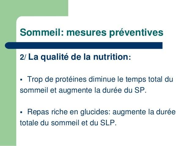 Sommeil: mesures préventives  3/ Eviter le surentraînement troubles du  Sommeil.