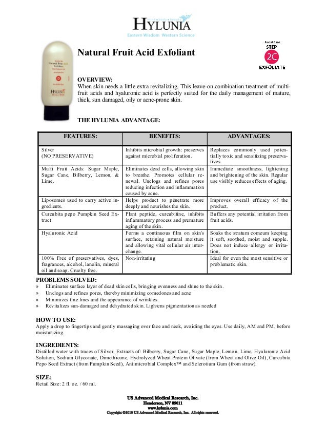 Natural Fruit Acid Exfoliant                      OVERVIEW:                      When skin needs a little extra revitalizi...