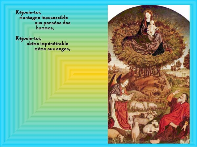 Réjouis-toi,Réjouis-toi, montagne inaccessiblemontagne inaccessible aux pensées desaux pensées des hommes,hommes, Réjouis-...