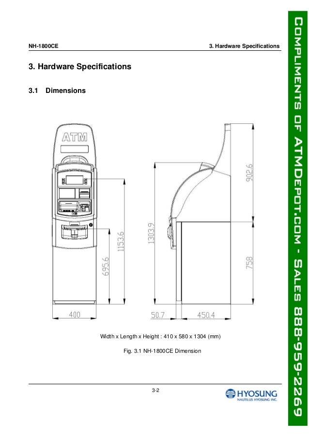Hyosung 1800 Ce Atm Machine Owners Manual
