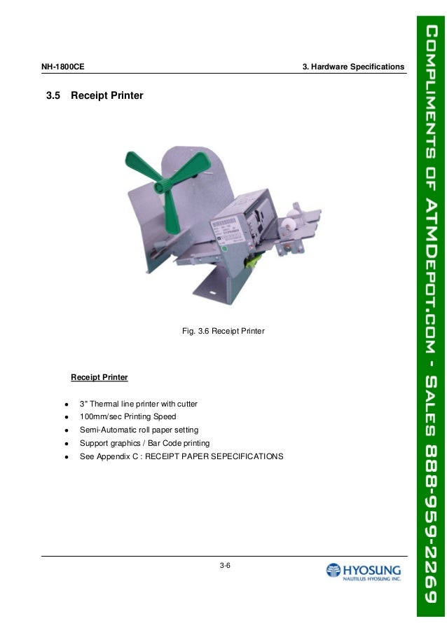 Hyosung 1800 ce-atm-machine-owners-manual