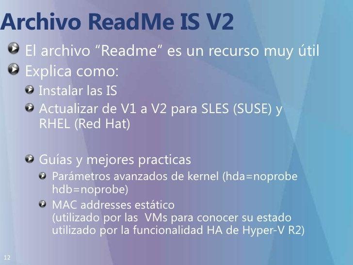 """Archivo ReadMe IS V2<br />El archivo """"Readme"""" es un recurso muy útil<br />Explica como:<br />Instalar las IS<br />Actualiz..."""