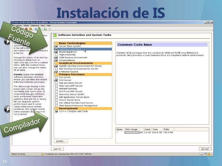 Instalación de IS Distribuciones SOPORTADAS<br />Código Fuente<br />Distribuciones Soportadas:<br />SUSE Linux Enterprise ...