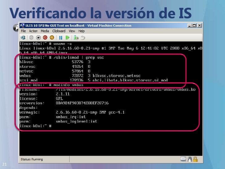 Verificando la versión de IS<br />A partir de la versión 2.1 esta soportado modinfo<br />Permite saber la versión de IS in...