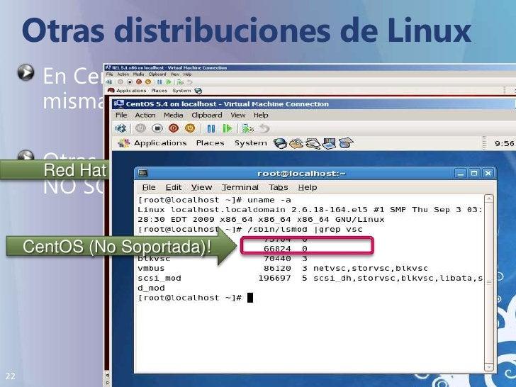Otras distribuciones de Linux<br />En CentOS, la instalación es exactamente la misma que en Red Hat<br />Otras distribucio...