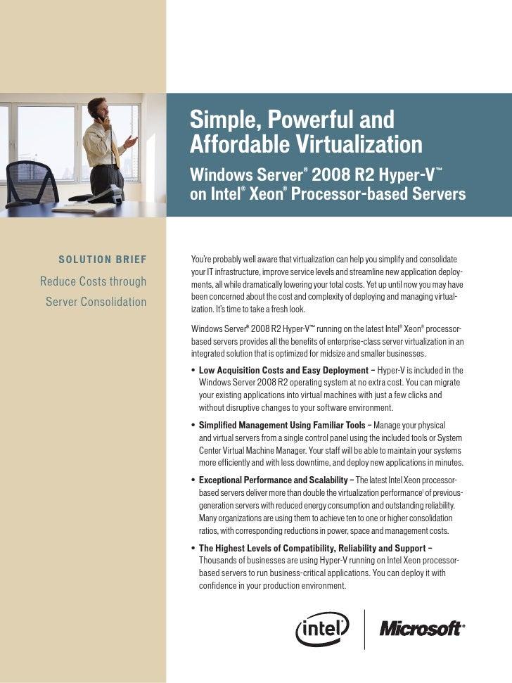Simple,Powerfuland                                  AffordableVirtualization                                  Windows...