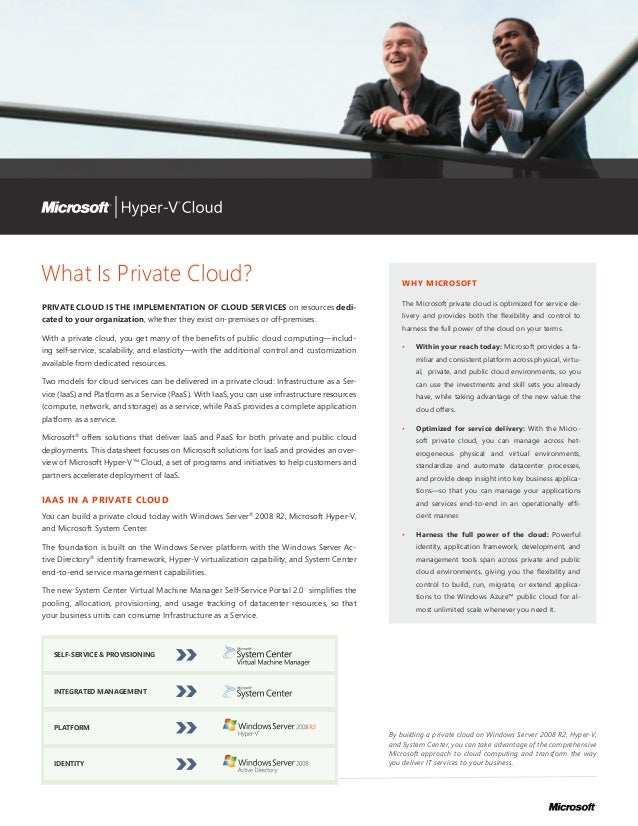 What Is Private Cloud?                                                                              WHY MICROSOFT         ...