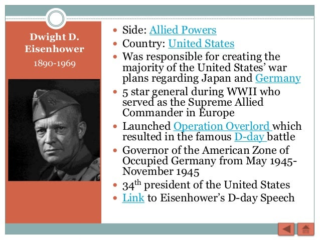 a biography of dwight d eisenhower a five5 star general and the 34th president of the united states Dwight d eisenhower (nicknamed ike) was the 34th president of the united statesbefore he was elected president, he held the rank of five-star general in the us army during world war ii, and also served as the supreme commander of the allied forces in europe.