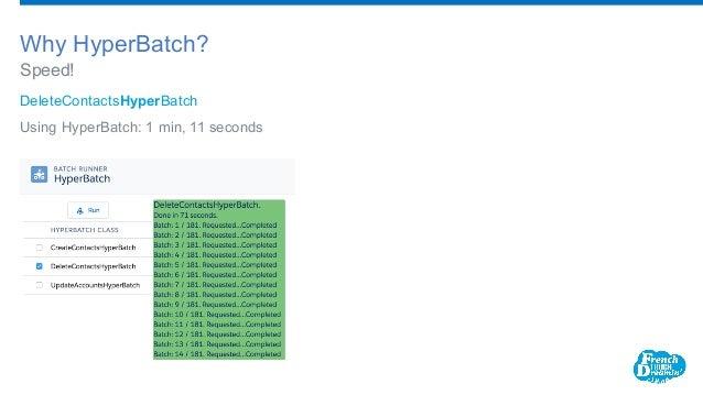 DeleteContactsHyperBatch Using HyperBatch: 1 min, 11 seconds Speed! Why HyperBatch?