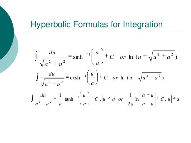 Hyperbolic Functions Dfs