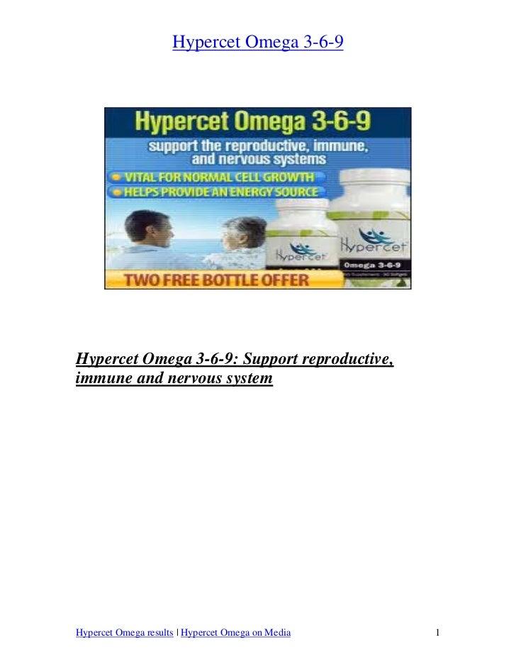 Hypercet Omega 3-6-9Hypercet Omega 3-6-9: Support reproductive,immune and nervous systemHypercet Omega results   Hypercet ...