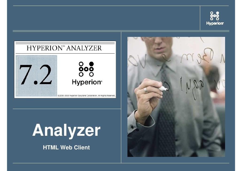 Analyzer  HTML Web Client