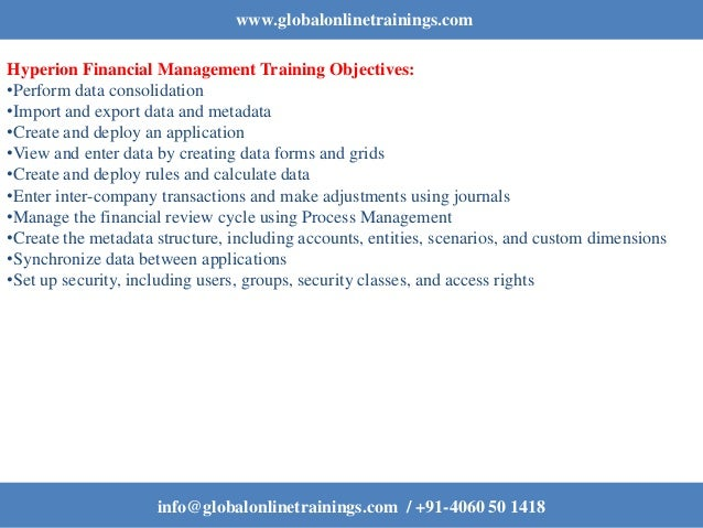 Hyperion Financial Management Training | Oracle HFM Online ...