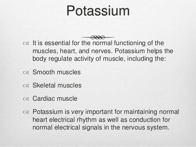 what is the normal range for potassium levels