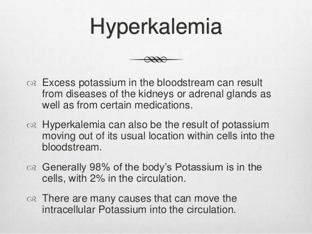 hyperkalemia protocol presentation, Skeleton