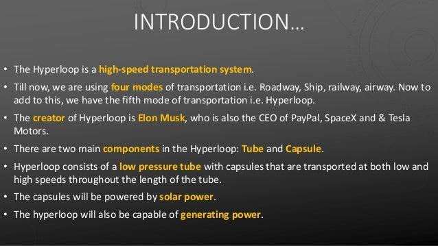 Hyper Loop One PPT - Hyperloop India 2018 Slide 3