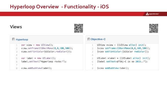 Hyperloop Overview - Functionality - iOS Views