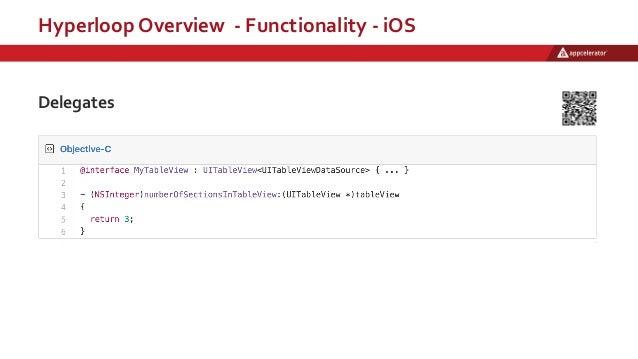 Hyperloop Overview - Functionality - iOS Delegates