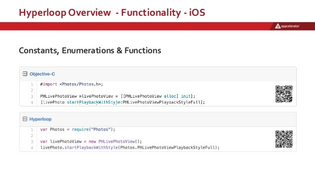 Hyperloop Overview - Functionality - iOS Constants, Enumerations & Functions