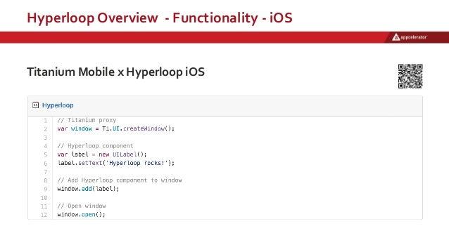 Hyperloop Overview - Functionality - iOS Titanium Mobile x Hyperloop iOS