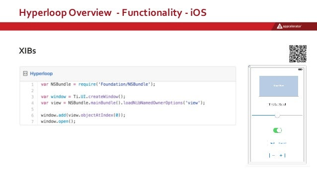 Hyperloop Overview - Functionality - iOS XIBs