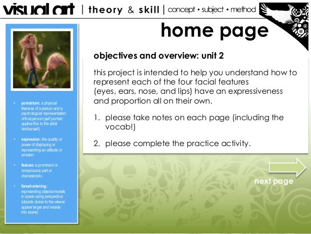 home page objectives and overview: unit 2 this project is intended to help you understand how to represent each of the fou...