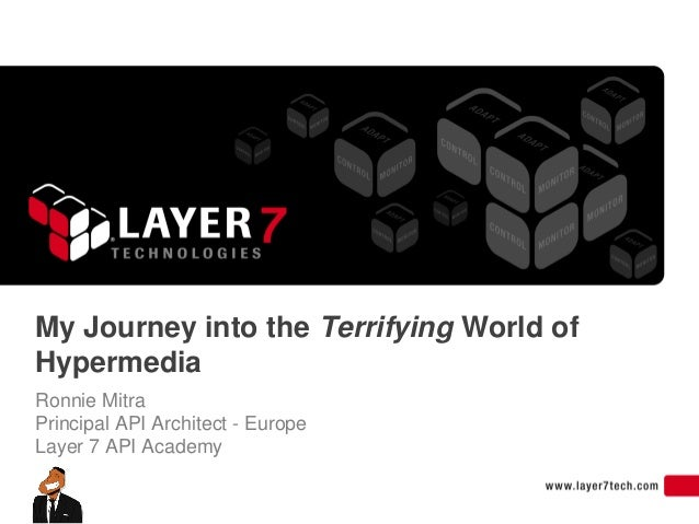 My Journey into the Terrifying World ofHypermediaRonnie MitraPrincipal API Architect - EuropeLayer 7 API Academy
