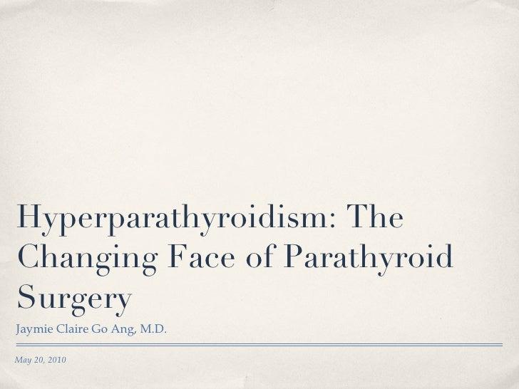 Hyperparathyroidism 2010
