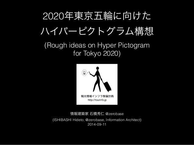 2020年東京五輪に向けた  ハイパーピクトグラム構想  (Rough ideas on Hyper Pictogram  for Tokyo 2020)  情報建築家 石橋秀仁 @zerobase  (ISHIBASHI Hideto, @z...