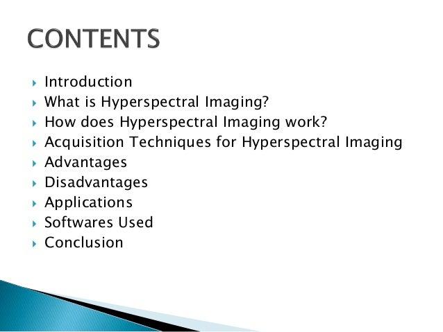 Hyperspectral Imaging Slide 2