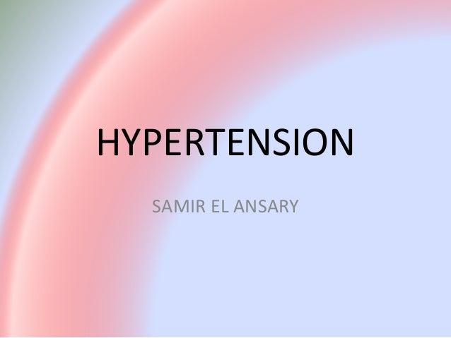 HYPERTENSION SAMIR EL ANSARY