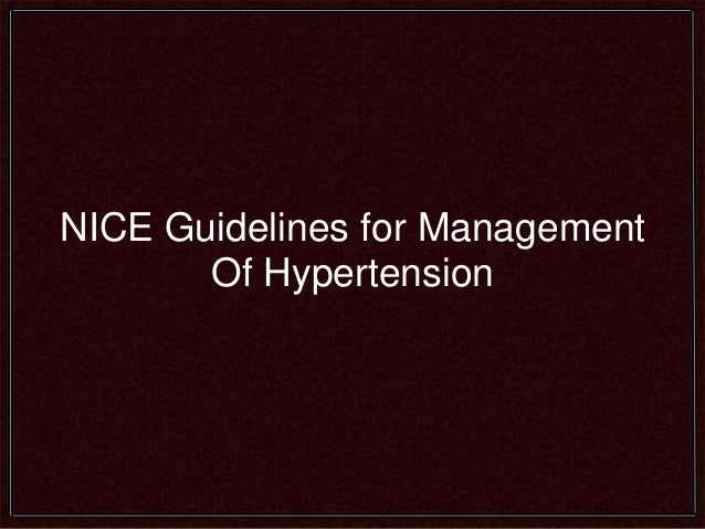 nice guidelines isolated systolic hypertension
