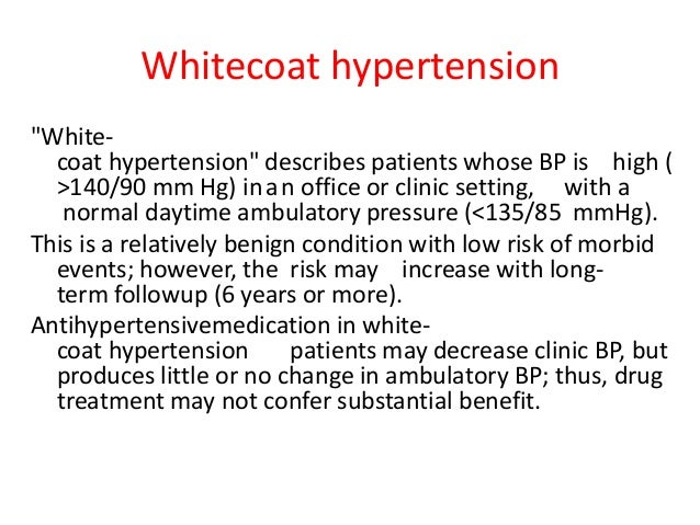Hypertension - definitions, etiology and mechanisms