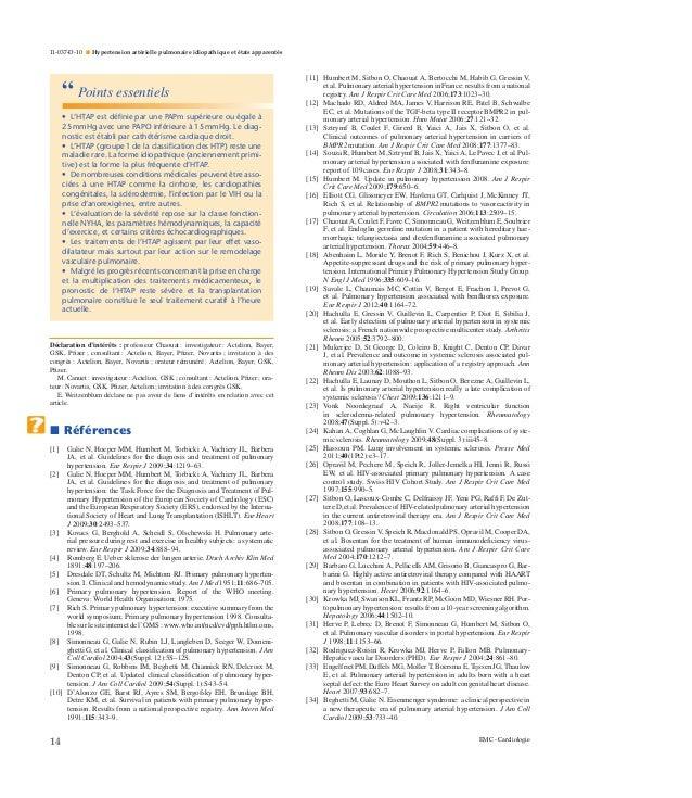 Hypertension artérielle pulmonaire idiopathique et états..