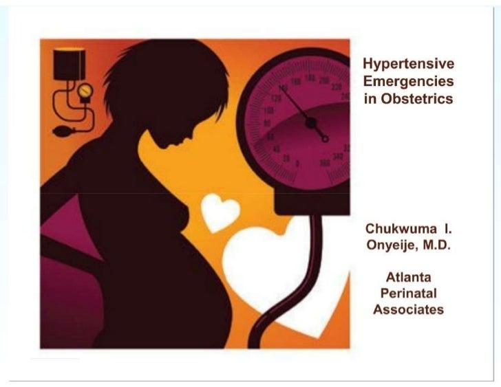 Hypertensive Emergencies in Obstetrics